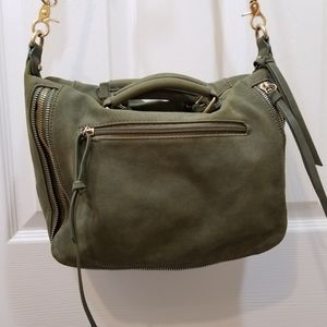Free People Olive Green Convertible Crossbody Bag